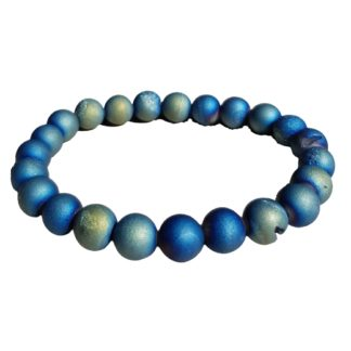bracelet perles agate druzy