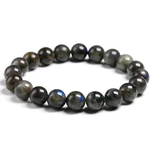 Bracelet en pierre de labradorite perles de 10mm