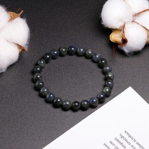 Bracelet en pierre de labradorite perles de 8mm