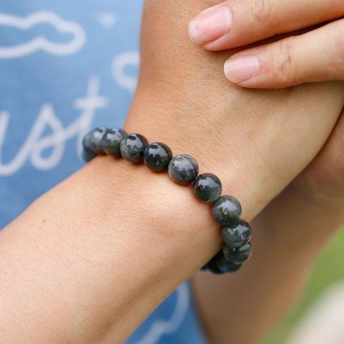 Bracelet en pierre de labradorite en perles