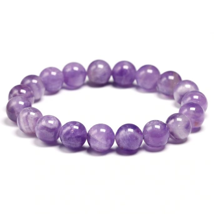 Bracelet améthyste perles 10mm