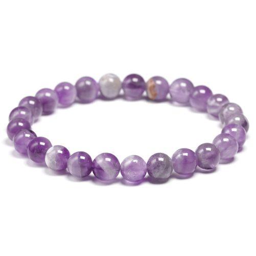 Bracelet améthyste perles 8mm