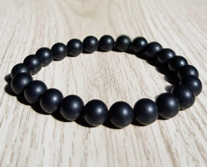 bracelet onyx noir