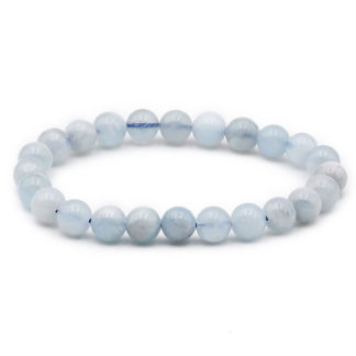 bracelet perles aigue marine 8mm