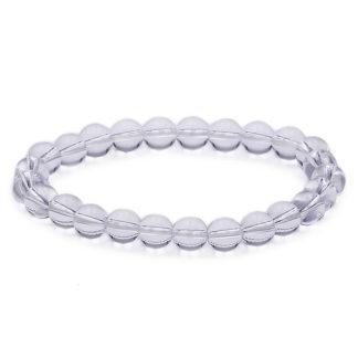 Bracelet perles cristal de roche 8mm