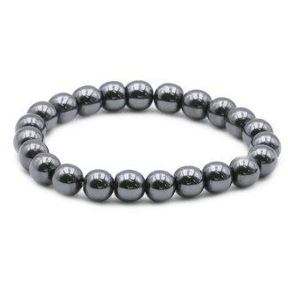 bracelet perles hématite 8mm