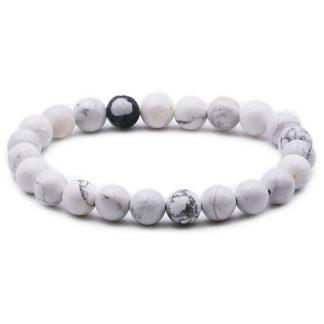 bracelet perles howlite 8mm