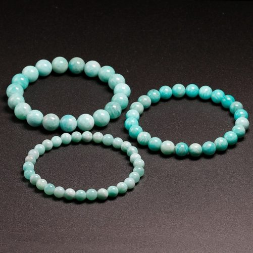 Bracelet en pierre amazonite naturelle