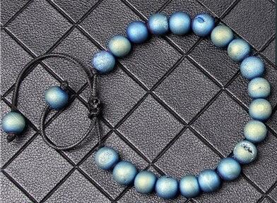 Bracelet agate druzy