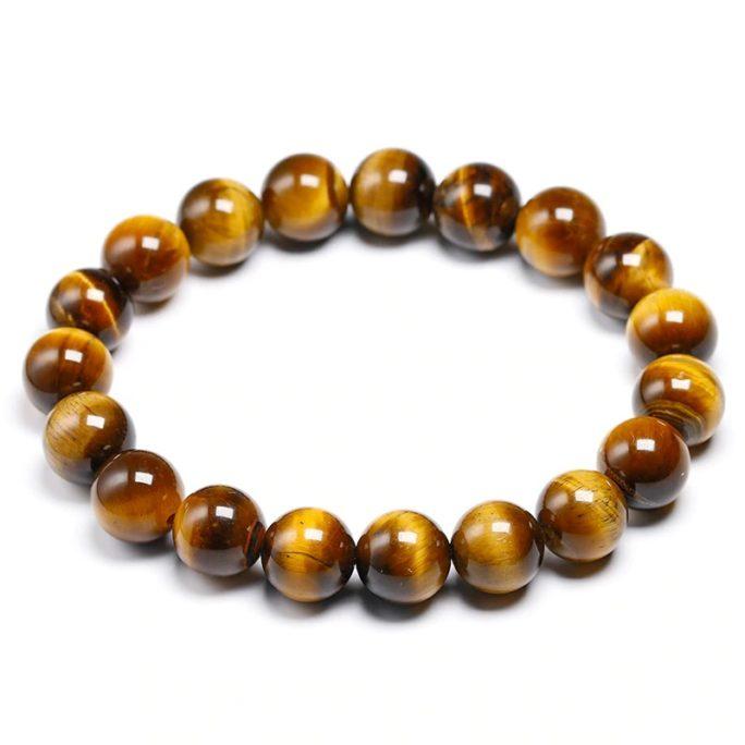 Bracelet œil de tigre avec des perles de 10mm