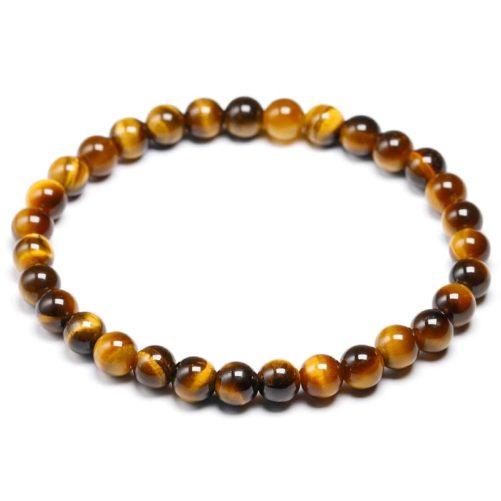 Bracelet œil de tigre avec des perles de 6mm