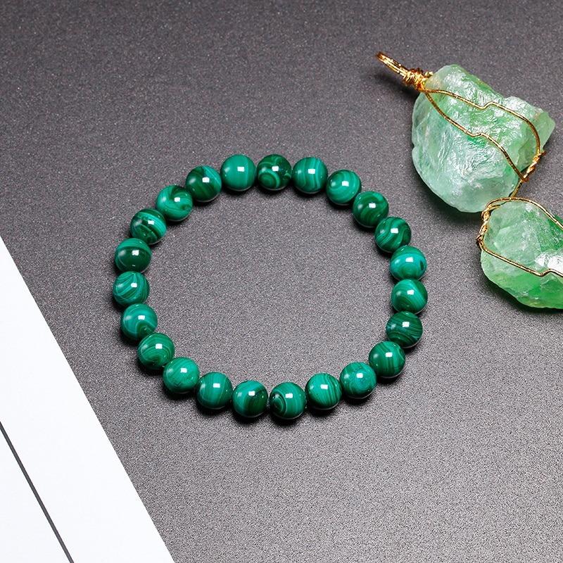 987 Bracelet Malachite 8mm Chakra Pierre Naturelle Lithothérapie