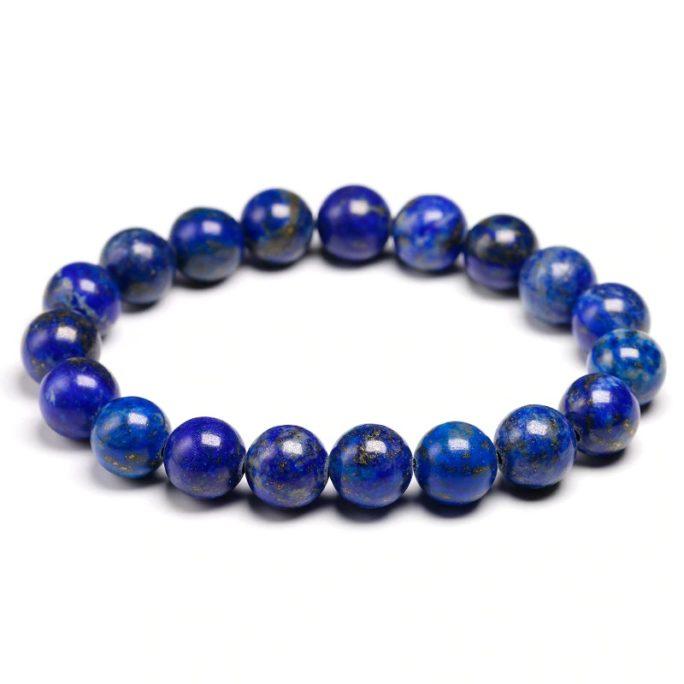 Bracelet en pierre de lapis lazuli avec des perles de 10mm