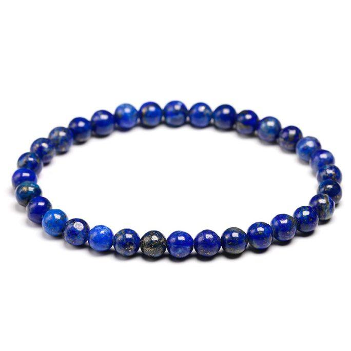 Bracelet en pierre de lapis lazuli avec des perles de 6mm