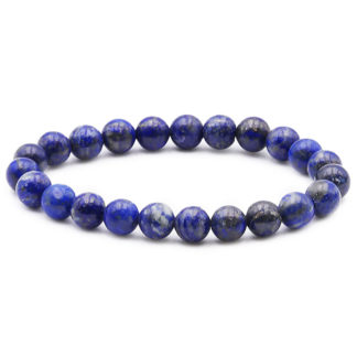 bracelet perles lapis lazuli 8mm