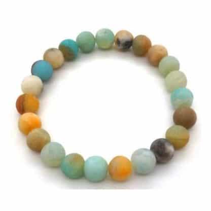 bracelet amazonite multicolore 8mm