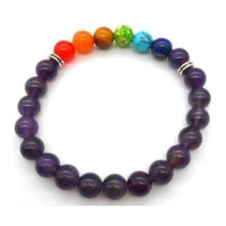 bracelet améthyste 7 chakras