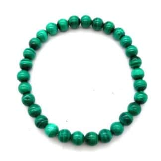 Bracelet malachite clair 6mm