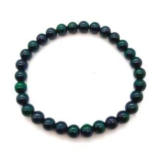 Bracelet malachite foncée 6 mm