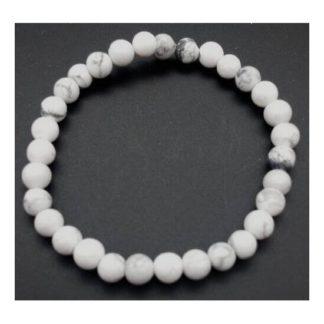 bracelet howlite 6mm