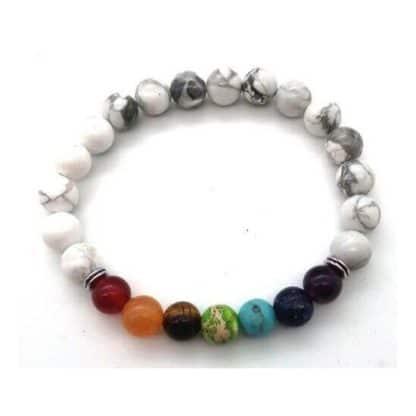 bracelet howlite 7 charkras