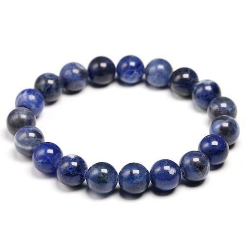 Bracelet en pierre de sodalite naturelle avec des perles de 10mm