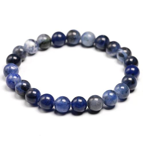 Bracelet en pierre de sodalite naturelle avec des perles de 8mm