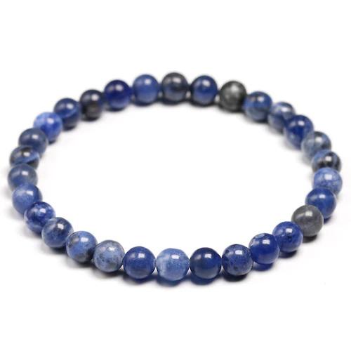 Bracelet en pierre de sodalite naturelle avec des perles de 6mm