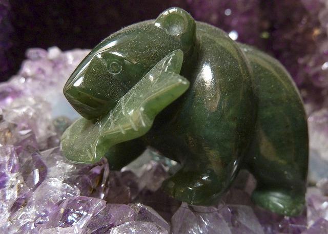 une pierre de jade