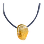 Pendentifs pierres percées citrine