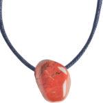 Pendentifs pierres percées japse rouge