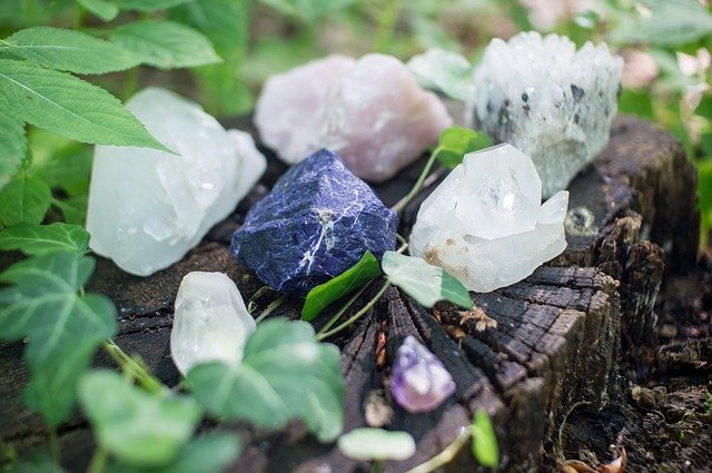 rechargement sur amas de cristaux