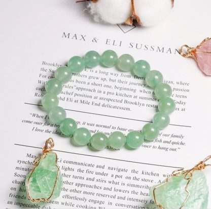Bracelet aventurine verte naturelle