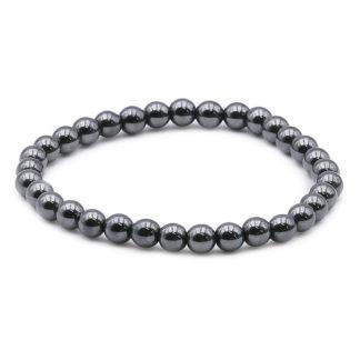 Bracelet hématite 6mm