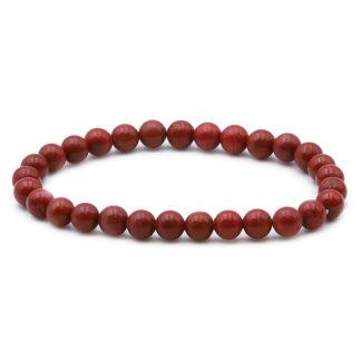bracelet perles jaspe rouge 6mm