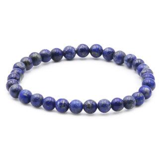 bracelet 6mm perles lapis lazuli