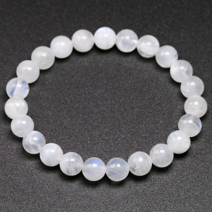 Bracelet en pierre de lune naturelle en perles de 8mm