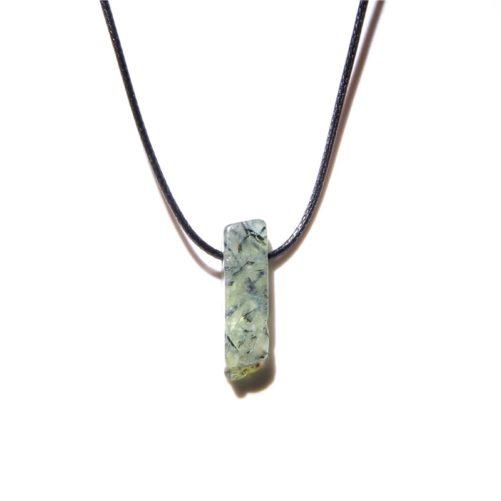 collier pendentif prehnite